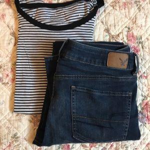 American Eagle Super Stretch straight jeans 8L